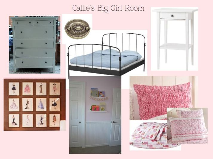 Callie's Big Girl Room Mood Board